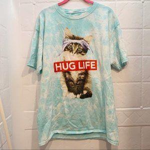 Hug Life graphic tie dye short sleeve t-shirt top